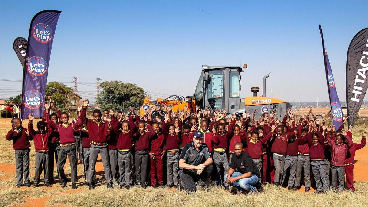 Ground levelling signals the start of construction of Thuthuka Primary's playing field
